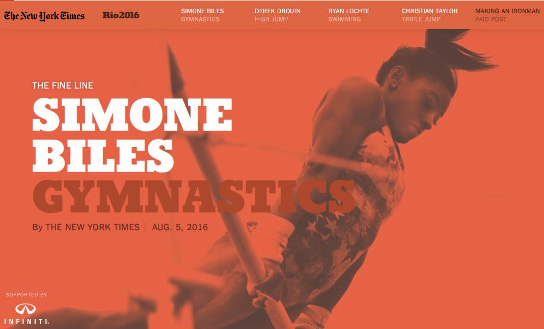 New York Times Fine Line Simone Biles